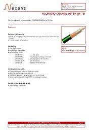 Créer un fichier PDF - Nexans