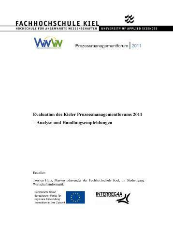 Evaluation des Kieler Prozessmanagementforums 2011 – Analyse und ...