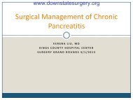 Surgical Management of Chronic Pancreatitis - Department of ...