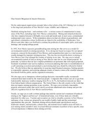 Coalition Letter - New Mexico Wilderness Alliance