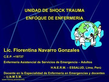 Unidad de Shock - Reeme.arizona.edu