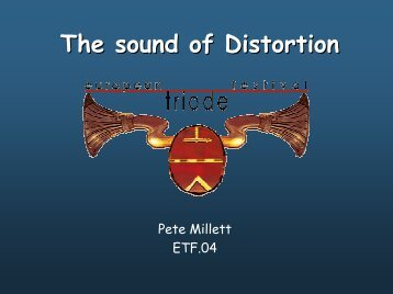 The sound of Distortion - Pete Millett's DIY Audio pages