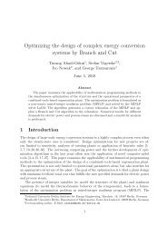 Optimizing the design of complex energy conversion systems by ...