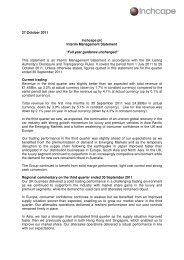 Inchcape announces Q3 Interim Management Statement