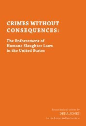 CRIMES WITHOUT CONSEQUENCES: - Animal Welfare Institute