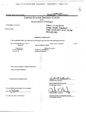 Criminal Complaint V - MLive.com