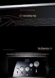 Le Piano, le premier espace de cuisson 100 % induction - De Dietrich