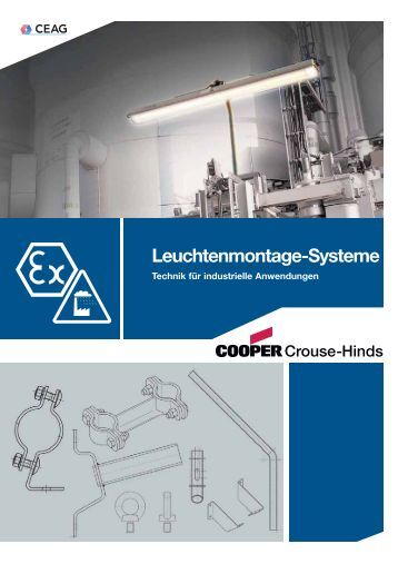 Leuchtenmontage-Systeme - Cooper Crouse-Hinds