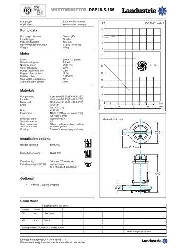 Datasheets DSP series - Landustrie