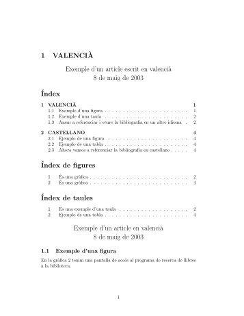 1 VALENCI`A Exemple d'un article escrit en valenci` - Instituto de ...