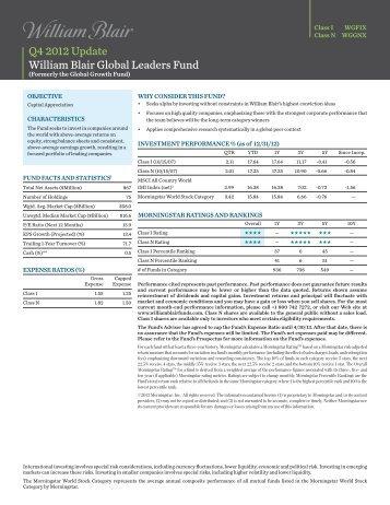 Class N Factsheet - William Blair