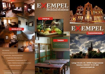 Hotel Exempel Schlafstuben | Hausprospekt