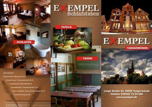 Hotel Exempel Schlafstuben   Hausprospekt