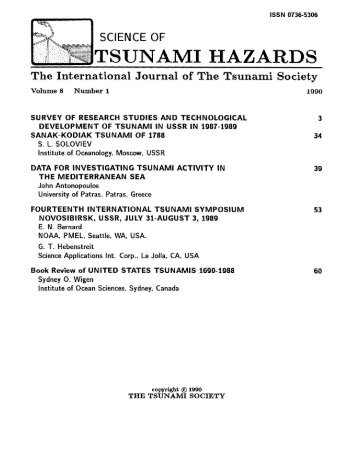 Volume 8(1), 1990 - Tsunami Society International
