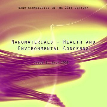 NAnOMATERIALs - HEALTH AnD EnVIROnMEnTAL COnCERn - EEB