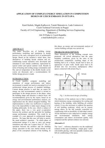 APPLICATION OF COMPLEX ENERGY SIMULATION IN ...