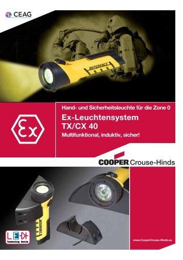 Ex-Leuchtensystem TX/CX 40 - Cooper Crouse-Hinds