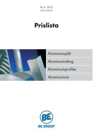 Prislista - BE Group