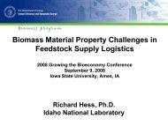 J. Richard Hess - Bioeconomy Conference 2009