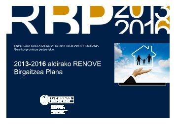 2013-2016 aldirako RENOVE - Irekia