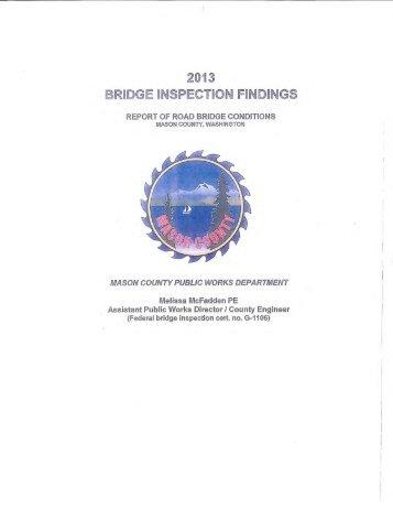 2013 Bridge Inventory - Mason County
