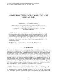 Analysis of Ship Evacuation in Tsunami Using AIS Data