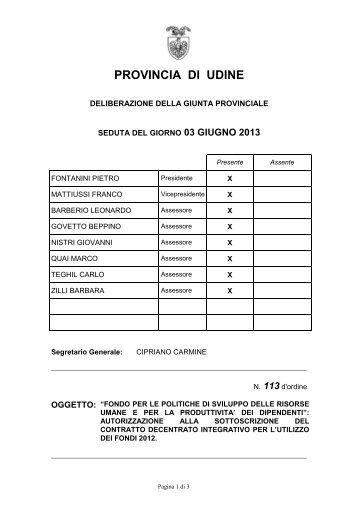 Documento in Windows Internet Explorer - Provincia di Udine