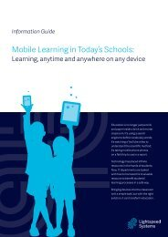 Mobile Learning in Today's Schools: - Lightspeed Systems