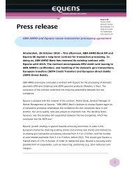 Press release (UK) - Equens