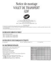 Notice de montage VOLET DE TRANSFERT GDF - Aldes