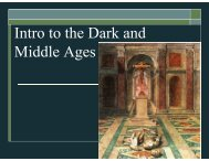 Introduction to the Dark and Middle Ages