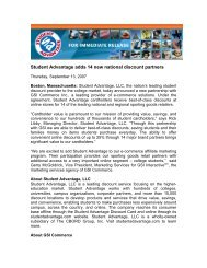Student Advantage adds 14 new national discount partners