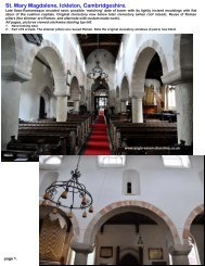 Ickleton church, Cambridgeshire - Anglo-Saxon churches