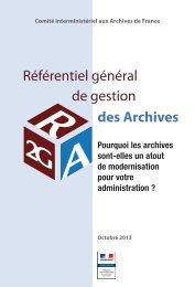 Référentiel général de gestion des Archives - Portail du ...