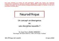 Neuroéthique - Plateforme societal
