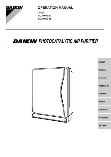 daikin mc 707 manual