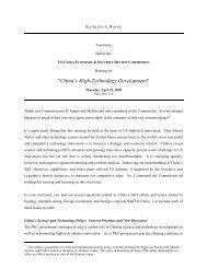 China's High-Technology Development - U.S.-China Economic and ...