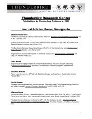 Journal Articles, Books, Monographs, and Series - Thunderbird ...