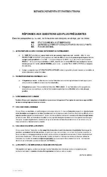 RÉPONSES AUX QUESTIONS LES PLUS FRÉQUENTES