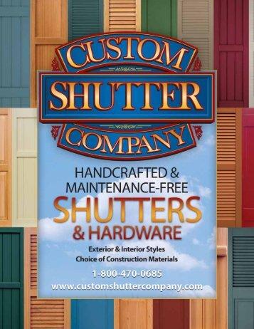Window Where The Shutters - Custom Shutter Company