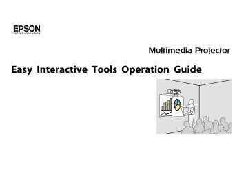 EPSON Easy Interactive Tools Operation Guide