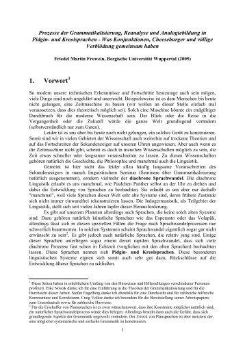 Grammatikalisierungsprozesse in Pidgin- und Kreolsprachen