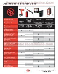 Assembly Tools Selection Guide - Pneumatic Tools Online
