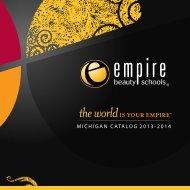 MICHIGAN CATALOG 2013-2014 - Empire Beauty School