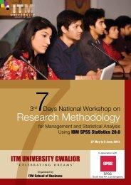 Research Methodology - ITM University