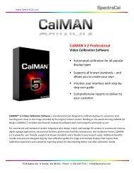 Download CalMAN 5.2 spec sheet - CE Pro