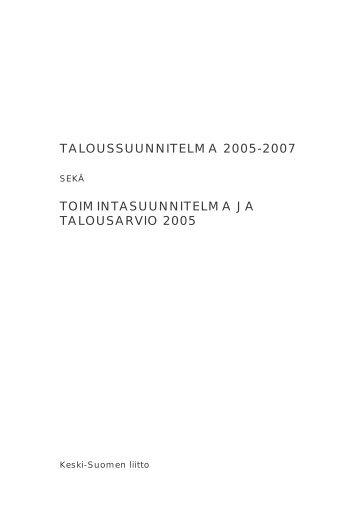 ISBN 951-594-214-4 (sähköinen versio) - Keski-Suomen liitto