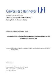 Abteilung Sozialpolitik und Public Policy Leitung Prof. Dr. Bernhard ...