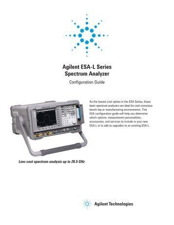 Agilent ESA-L Series Spectrum Analyzer - MB Electronique
