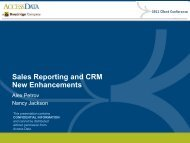 Sales Reporting and CRM New Enhancements - Broadridge